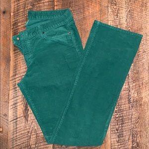 J. Crew Favorite Fit Corduroy Green Pants 32T